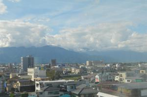 A general view of Matsumoto or a view of the city taken from the economy hotel