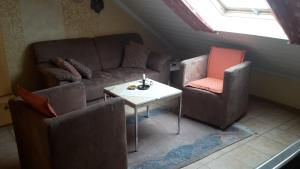 Ein Sitzbereich in der Unterkunft Ferienwohnung M. Lemmermeyer