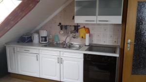 Küche/Küchenzeile in der Unterkunft Ferienwohnung M. Lemmermeyer