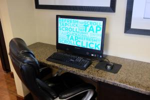 A television and/or entertainment center at Hampton Inn Lima