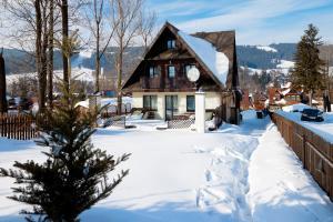 Obiekt Willa Na Wierchu zimą