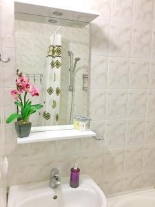 A bathroom at Apartment with Sea View near Park Shevchenko