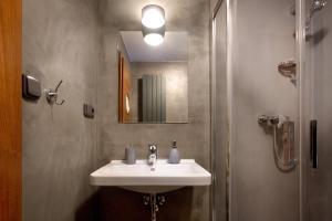 Koupelna v ubytování Pivovar Lindr Mžany