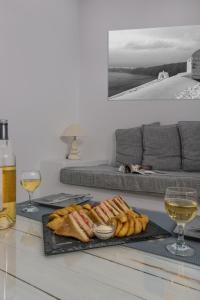 A seating area at Iliovasilema Hotel & Suites