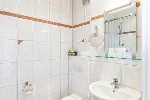 Ein Badezimmer in der Unterkunft Appartementhaus Strandnähe