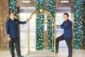 Staff members at Castle Peak Hotel