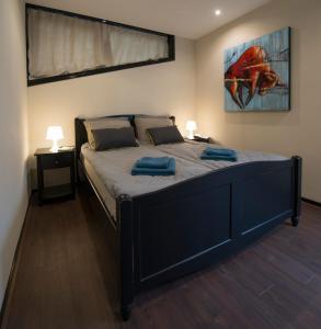 Een bed of bedden in een kamer bij Ghoyhuys