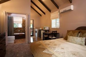 A room at Lotus Lodges