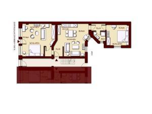 Grundriss der Unterkunft Abendquartier Potsdam