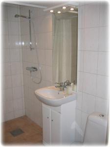 A bathroom at Börs Gård
