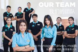 Members of staff at Amatapura Beachfront Villa 14
