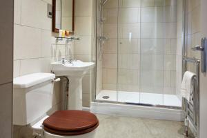 A bathroom at The Golden Pheasant