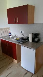 Küche/Küchenzeile in der Unterkunft Ferienwohnung Wolf