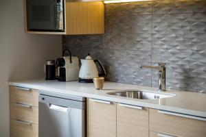 A kitchen or kitchenette at Te Anau Luxury Apartments