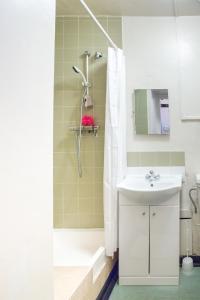 A bathroom at Lillian Penson Hall, University Of London
