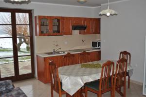 Kuhinja oz. manjša kuhinja v nastanitvi Apartments - Turistična kmetija Vrbnjak