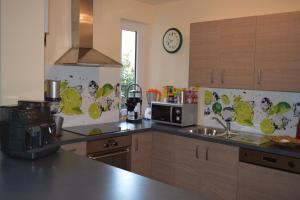 Küche/Küchenzeile in der Unterkunft Nichtraucherferienwohnung-Neckarblick