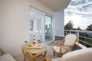 A balcony or terrace at The Adriatic Pearl Split