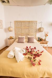 Cama o camas de una habitación en Casa Bodega Triana