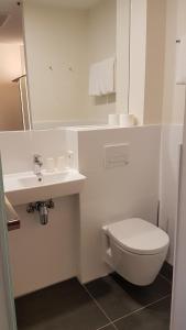 A bathroom at easyHotel Amsterdam Arena Boulevard