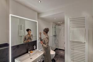 Ein Badezimmer in der Unterkunft Unperfekthotel