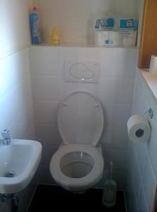 Salle de bains dans l'établissement Vissershuis Haerendycke