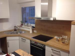 Küche/Küchenzeile in der Unterkunft Apartment Kleine Kremper