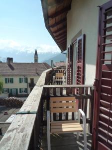 Ein Balkon oder eine Terrasse in der Unterkunft Garni Sonne