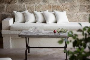 A seating area at Masseria Don Cirillo