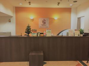 The lobby or reception area at Hotel Crown Hills Yamagata