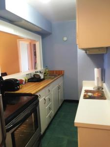 A kitchen or kitchenette at Downtown 1 Bedroom Apt #18H