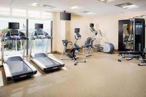 The fitness center and/or fitness facilities at Hilton Garden Inn Providence