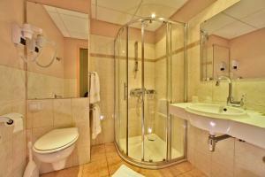 A bathroom at Hôtel Le Lion d'Or