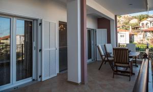 A balcony or terrace at Villa Sithonia