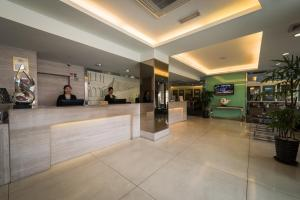 The lobby or reception area at Hotel Sentral Georgetown @ City Centre
