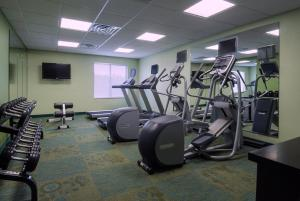 The fitness center and/or fitness facilities at SpringHill Suites by Marriott Baton Rouge South