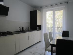 Кухня или мини-кухня в Апартаменты на Калининградском проспекте 79б