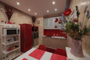 Кухня или мини-кухня в Apartment Panorama Park Lux