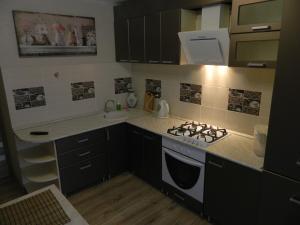 Кухня или мини-кухня в Апартаменты на Маршала Устинова 10