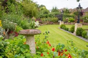 A garden outside Southbank House