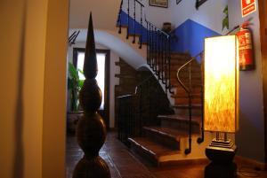 El vestíbulo o zona de recepción de Casa Pilar
