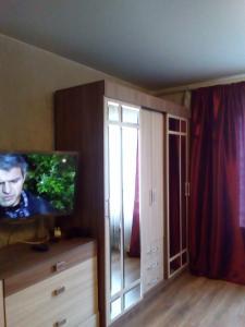 A television and/or entertainment centre at Apartments Vykhino/Veshnyaki