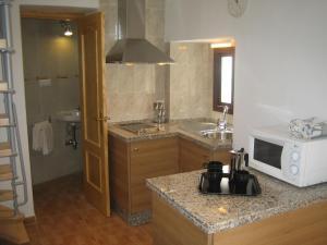 A kitchen or kitchenette at Casita Tacande