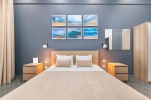 Кровать или кровати в номере Гостиница Брусника на Хорошевском