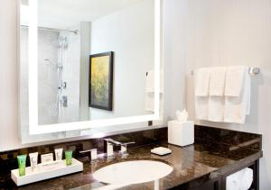 A bathroom at Hilton Miami Downtown