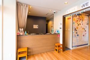 The lobby or reception area at Kintetsu Friendly Hostel Osaka Tennoji Park