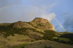 Una imagen general de la montaña o una montaña tomada desde la pensión