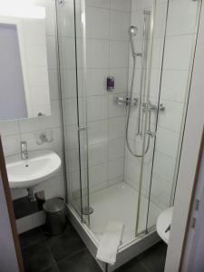Ein Badezimmer in der Unterkunft Hotel Rigi Vitznau