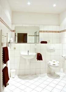 Ein Badezimmer in der Unterkunft Hotel Graf von Mansfeld