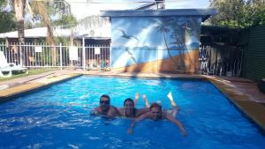 The swimming pool at or near Alice Lodge Backpackers